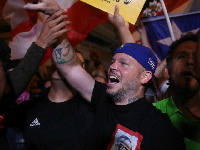 Puerto Rico: ciudadanos y celebridades festejaron renuncia de gobernador