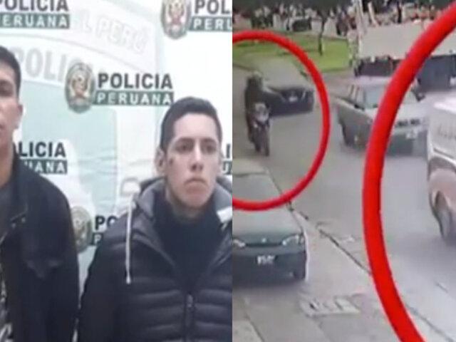 Capturan a delincuentes que asaltaron furgoneta en el Callao