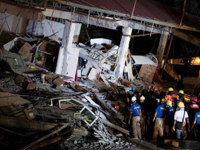 Filipinas: terremotos de 5.4 y 5.9 dejaron al menos ocho muertos