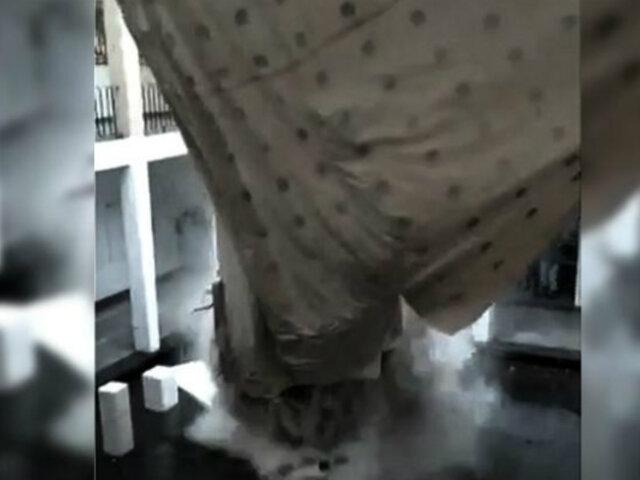 México: aguaceros provocaron desplome de techo de palacio municipal de Chalco