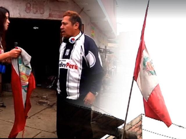 Fiestas Patrias: peruanos orgullosos izan banderas…pero están sucias y rotas