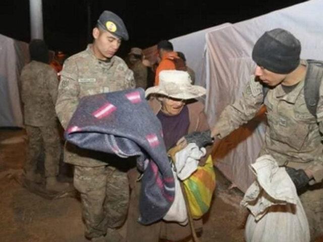 Volcán Ubinas: personal del Ejército evacuó a 507 personas por explosiones