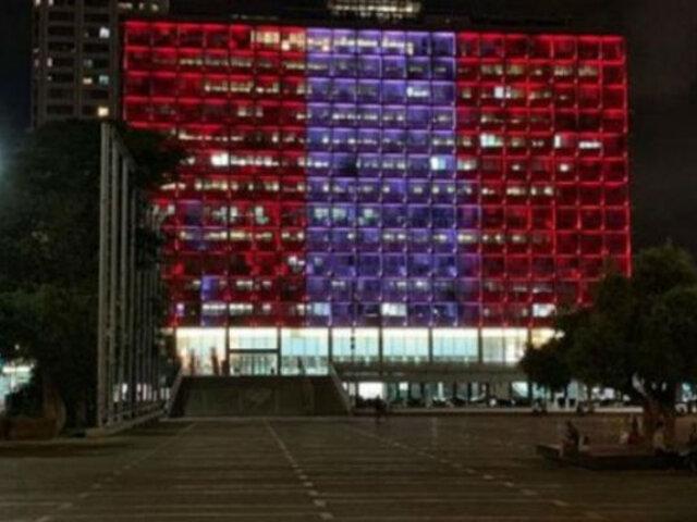 Israel: colores de nuestra bandera peruana iluminaron Plaza Rabin