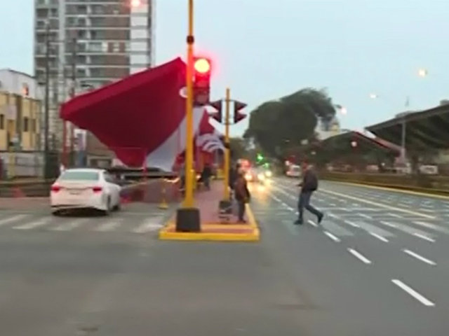 Así quedó la avenida Brasil tras desfile por Fiestas Patrias