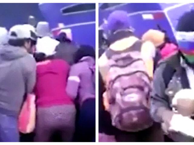 Tía María: manifestantes en contra de proyecto roban quesos a comerciante