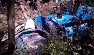 La Libertad: conductor de volquete pierde la vida tras caer a abismo