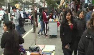 Cercado de Lima: Av. Abancay tomada por comerciantes ambulantes