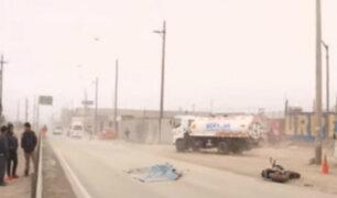Muerte de motociclista en autopista Ramiro Prialé causa congestión vehicular