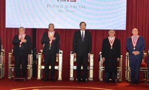 Mandatario Martín Vizcarra participa en ceremonia por Día del Juez