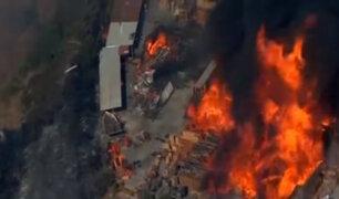 EEUU: incendio forestal consume más de 100 hectáreas