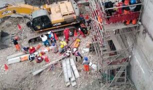 Dos muertos y 10 heridos tras accidente en construcción de Av. Petit Thouars