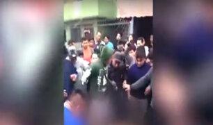 Los Olivos: delincuentes roban a mujer y es linchado por vecinos de Mercado
