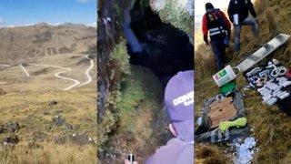 Huancavelica: hallan material explosivo y víveres en caleta terrorista ubicada en montaña