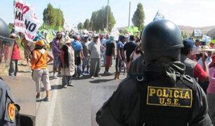 Tía María: protesta en terminal terrestre impide salida de buses