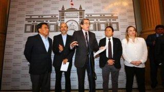 Bancada aprista rechazó participar en diálogo con premier Salvador Del Solar