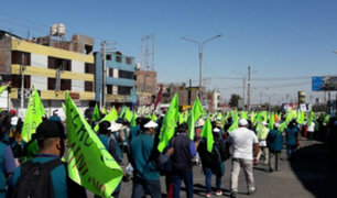 Arequipa: seis detenidos en segundo día de paro indefinido contra Tía María