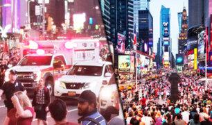 EEUU: se desata pánico en Times Square por un falso tiroteo