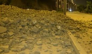 Deslizamiento de tierra afecta la Costa Verde en Magdalena