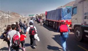Tía María: Panamericana Sur se encuentra bloqueada por manifestaciones