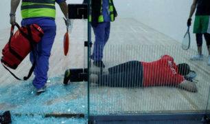 Lima 2019: raquetbolista se estrelló contra estructura de cristal durante competencia