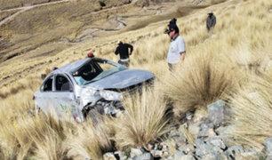 Cusco: al menos tres muertos deja despiste y vuelco de auto en Chumbivilcas