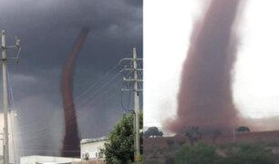 México: tornado alarmó a la población de Zacatecas