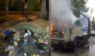 Callao: incendian camión de basura con trabajadores dentro por venganza