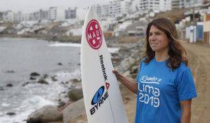 Sofía Mulánovich donó su tabla para ONG