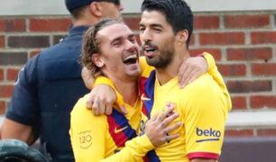 Antoine Griezmann anota su primer gol con Barcelona ante Napoli