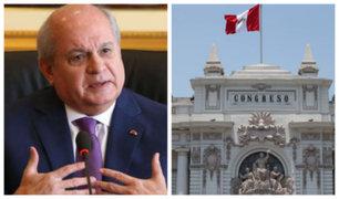Pedro Cateriano considera que el Congreso genera bloqueo político