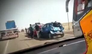 Tacna: bus provoca choque múltiple y deja cinco heridos