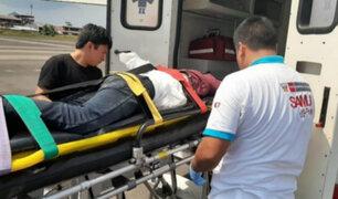 Loreto: joven Awajún termina con tronco incrustado a la altura del abdomen tras caer