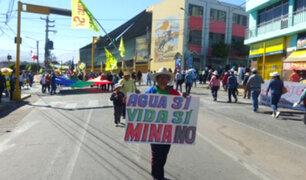 Conflicto social: Moquegua inicia paro contra proyecto minero Quellaveco