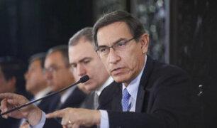 Martín Vizcarra: si pretenden vacancia por buscar diálogo se quedarán a medio camino