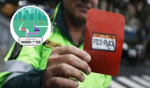 Pico y Placa: Waze activa plan de navegación tomando en cuenta restricciones