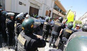 Arequipa: opositores a Tía María intentaron ingresar a Plaza de Armas