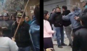 Los Olivos: Daniel Urresti vuelve a protagonizar enfrentamiento con ambulantes