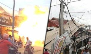 Camboya: explosión de camión cisterna de gas deja 13 heridos