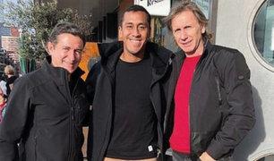 Renato Tapia recibió a Ricardo Gareca y Sergio Santín en Holanda