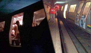 Venezuela: metro de Caracas se descarrila y deja ocho heridos