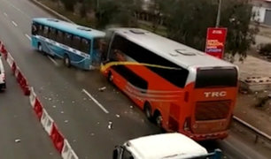 Chofer de bus interprovincial desmintió haber embestido intencionalmente a micro