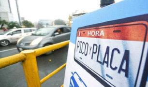 'Pico y Placa': conoce las modificaciones al plan de restricción vehicular
