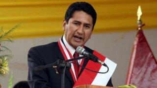 Vladimir Cerrón fue suspendido en el cargo de gobernador regional de Junín