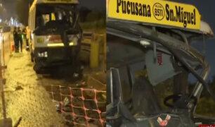 Lurín: 14 heridos deja accidente provocado por chofer que se habría quedado dormido