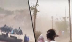 Vientos huracanados causaron alarma en Yurimaguas