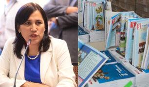 """Flor Pablo sobre intervención de padres en contenido educativo: """"es función solo del Minedu"""""""