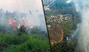 Madre de Dios: incendio forestal afecta la localidad de Iñapari