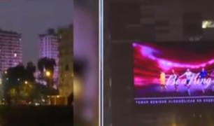 Barranco: enormes paneles luminosos no dejan dormir a vecinos