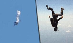 Reino Unido: paracaidista se precipita al vacío al no abrirse su equipo y sobrevive