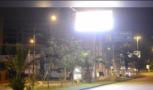 Municipalidad de Miraflores restringirá horario de uso de paneles luminosos